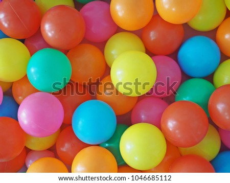 Colorful background with kids plastic balls or PVC pipe ball pit for kids. & Colorful Background Kids Plastic Balls PVC Stock Photo (Royalty Free ...