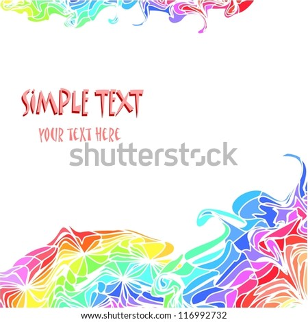Colorful background with waves and abstract motif - stock photo