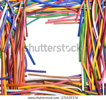 colorful  balloon Frame - stock photo