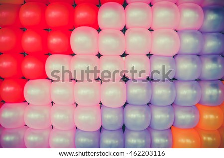 Colorful Balloon Pattern wallpaper background in childhood kid party concept.