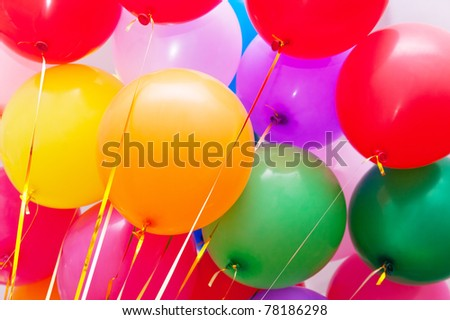 Colorful balloons. Can be used as background - stock photo