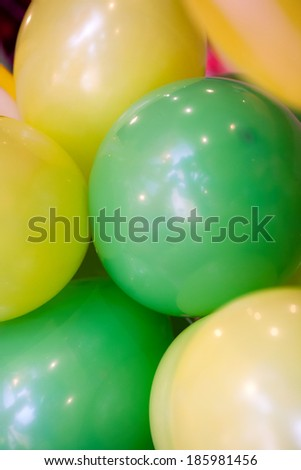 Colorful balloons for anniversary party