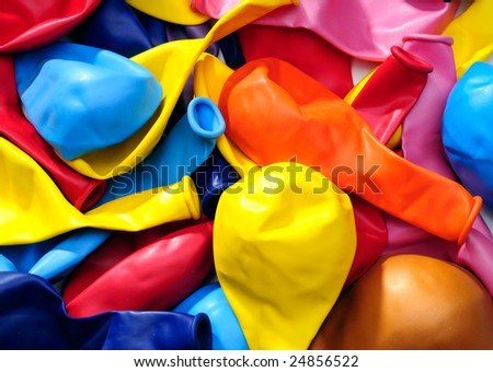 Colorful Balloons For Use As A Design Background Element