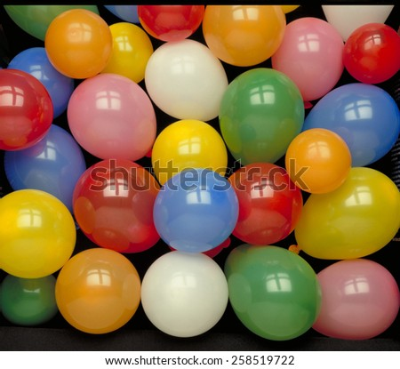 Colorful balloons group background.bunch of colorful balloons. - stock photo