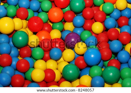 Colorful balls - stock photo