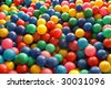 Colorful balls background - stock photo