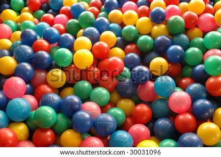 Colorful balls background