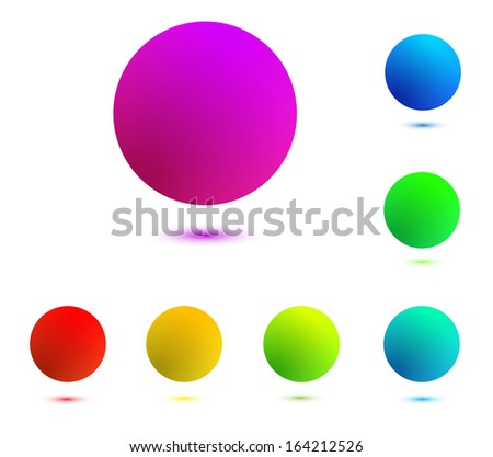 colorful balls isolated - stock photo