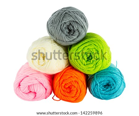 colorful balls of knitting yarn