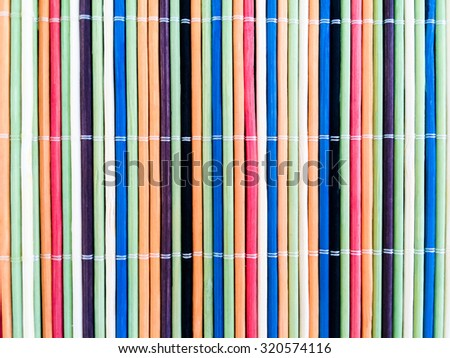 colorful bamboo mat background