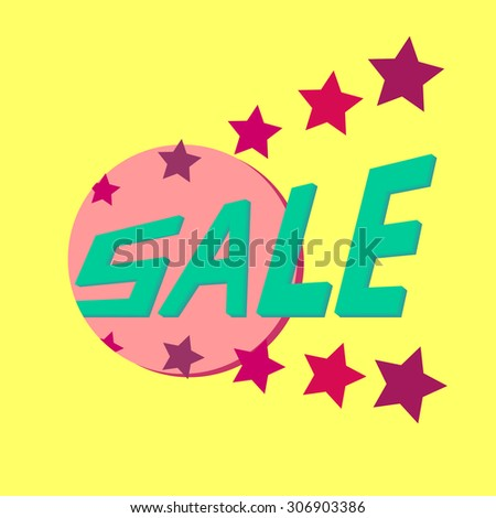 Colorful banner for discounts and advertising sale
