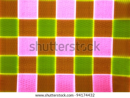 Colorful basket weave pattern - stock photo
