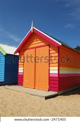 Colorful Beach House - stock photo