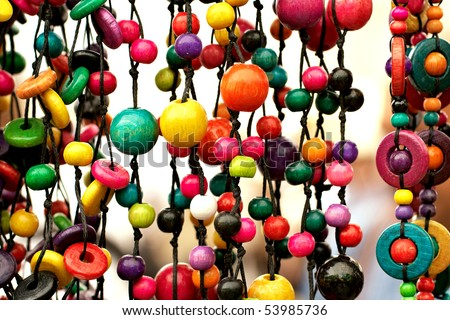 colorful beads background - stock photo