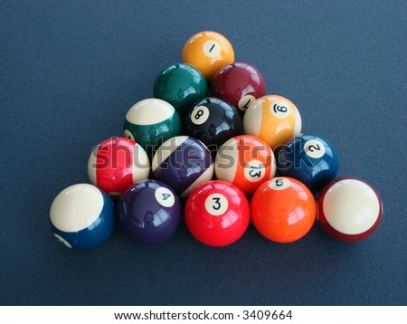 Colorful Billiard Balls - stock photo