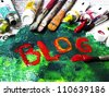 Colorful BLOG - stock photo