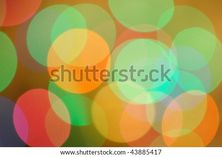 Colorful blur Christmas lights background