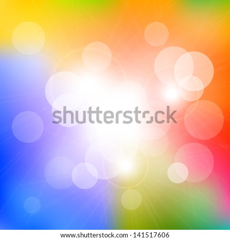 Colorful Bokeh Abstract Background - stock photo