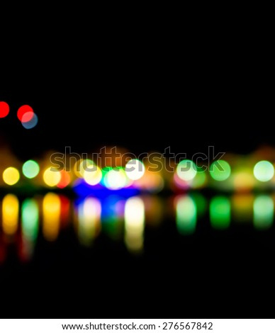Colorful bokeh background abstract, Light reflected from the water surface