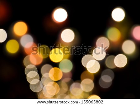 Colorful bokeh lights background  - stock photo