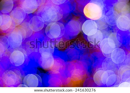 Colorful bokeh of a christmas tree - stock photo