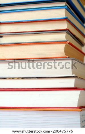 colorful books for background uses