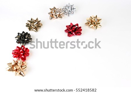 colorful bows isolated on white background