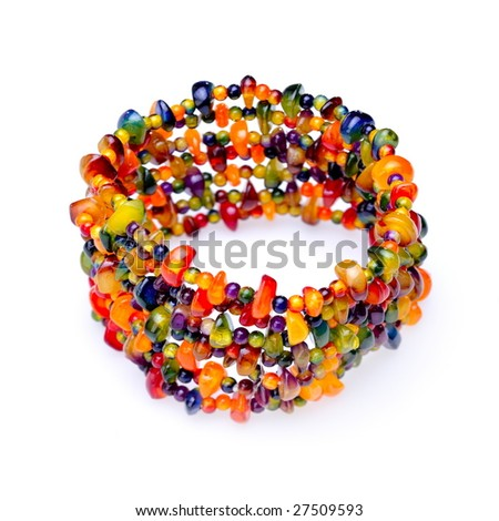 colorful bracelet isolated on white background