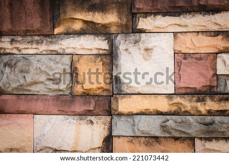 colorful brick background
