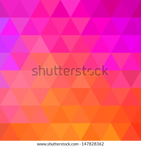 Colorful Bright Geometric Background. Raster illustration - stock photo