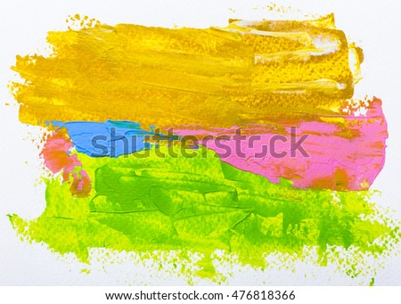 colorful bright hand painted texture background, acrylic painting on paper
