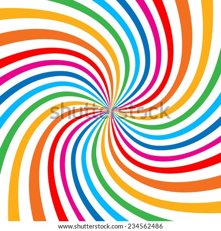 Colorful Bright Rainbow Spiral Background. Raster  logo design element - stock photo