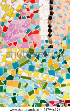 colorful broken tile, background texture.