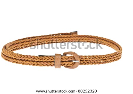 colorful brown belt  on white background