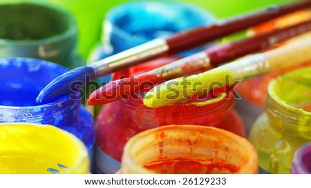 Colorful brushes.