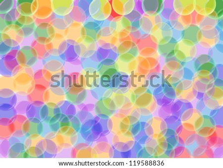 Colorful bubble background - stock photo