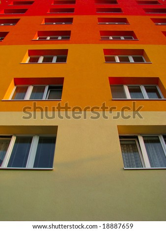 colorful building - stock photo