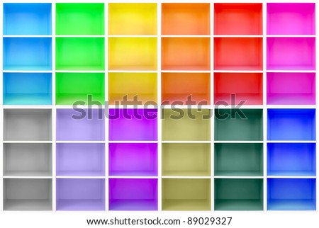 colorful cabinets - stock photo