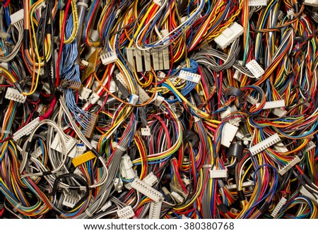 Colorful Cables Wires Connectors Computer Internet Stock Photo ...