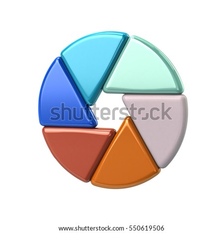 Colorful camera shutter objective icon 3d illustration on white background