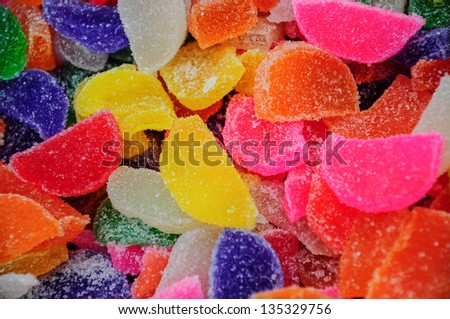 colorful candies as a background - stock photo