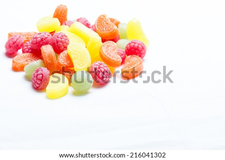 colorful candy isolated on white - stock photo