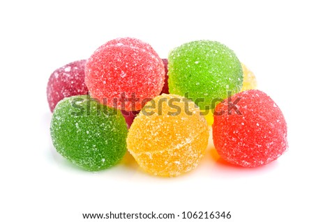 colorful candy isolated on white background.