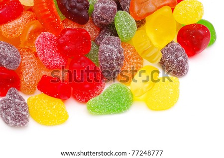 Colorful candy isolated on white background - stock photo