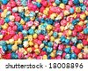 Colorful candy popcorn making a background - stock photo
