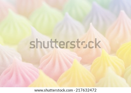 colorful candy Thai style handmade candy with pastel tones - stock photo