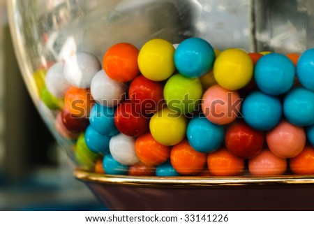 Colorful candy vending machine