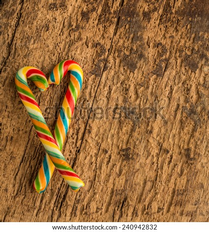 colorful cane candies - stock photo