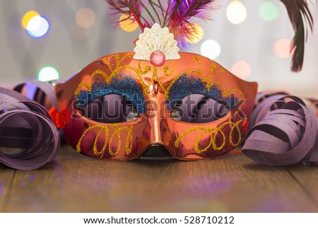 Colorful carnival background with  a placard