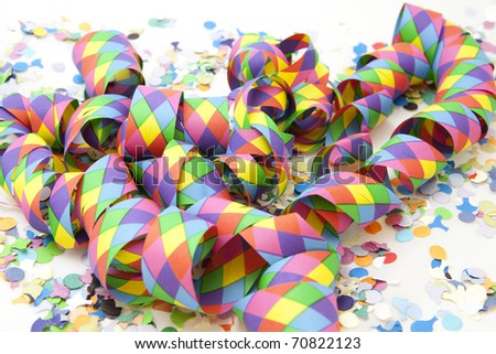 Colorful carnival background with long stripes